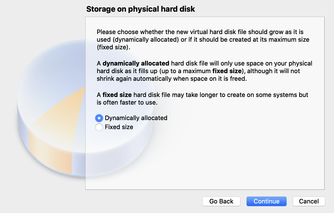 Storage-on-physical-hard-disk